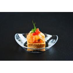 Mini slaná tartaletka slososovým tartarem